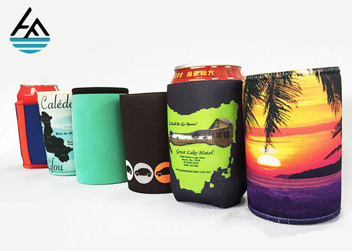 Single Can Cooler Sleeve Neoprene Can Coolers For Reversible Beer Beverage
